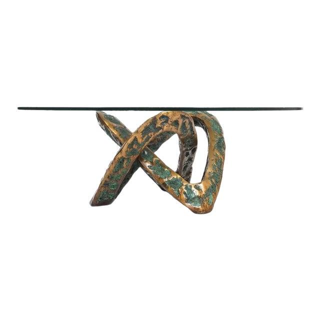 Sculptural Brutalist Mobius Bronze Table, circa 1955 For Sale