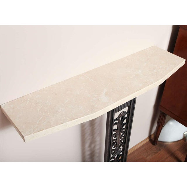Metal Modern Art Deco Style Console in the mannerof Brandt For Sale - Image 7 of 9