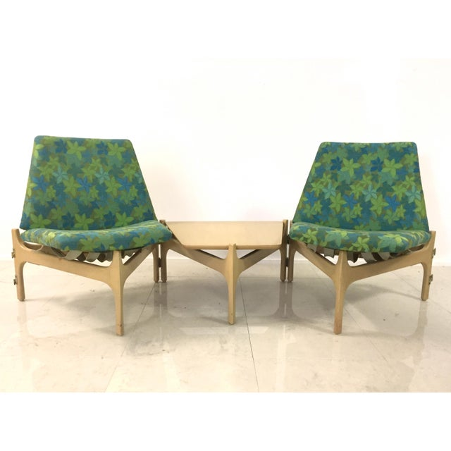 John Keal John Caldwell Brown Saltman Seating Arrangement For Sale - Image 4 of 8