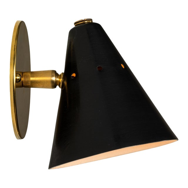 1950s Italian Perforated Cone Sconce in the Manner of Arteluce For Sale