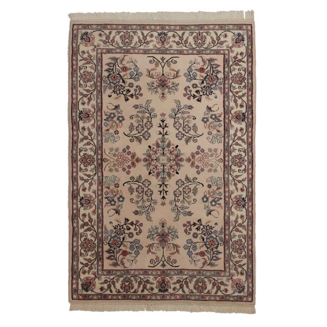 "Hand Knotted Wool Persian Style Rug - 4' X 6' 1"" For Sale"