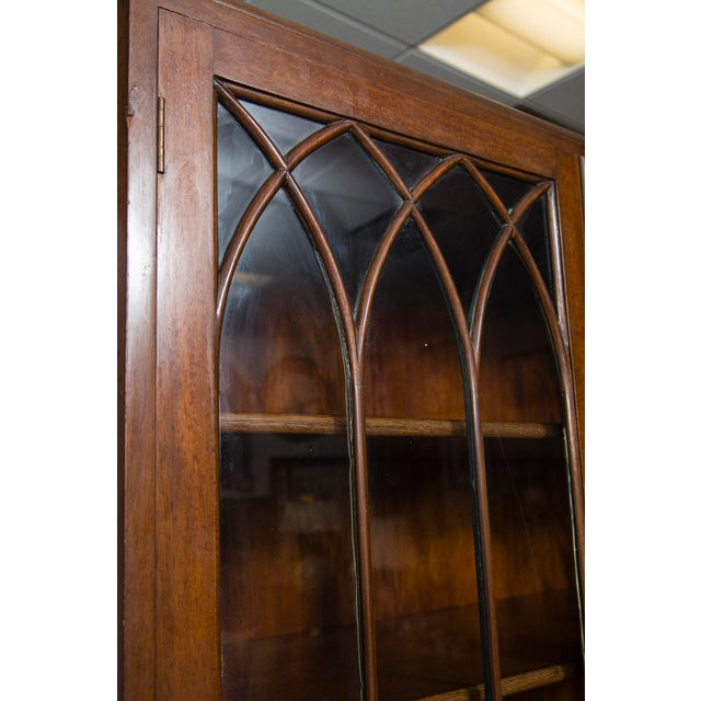 English Mahogany Display Cabinet For Sale In New York - Image 6 of 10