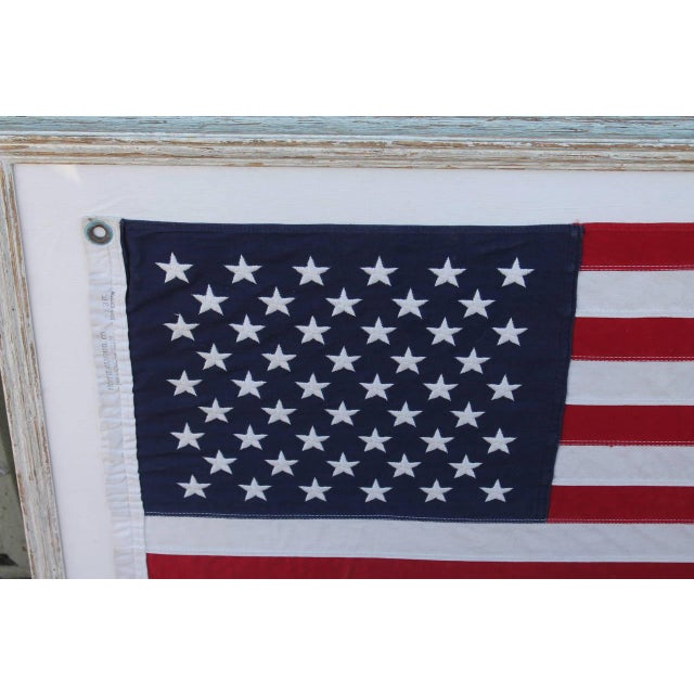 Mid-20th Century 50 Star American Ships Flag with Custom Frame - Image 2 of 5