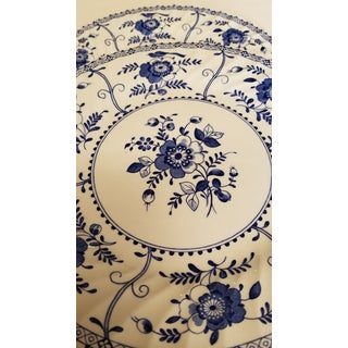 1970s Blue and White Johnson Bros Dinner Plates Indies Pattern - Set of 6 Preview