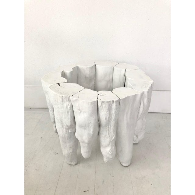 Bruailist White Cypress Root Sculpted Side Table For Sale In Portland, OR - Image 6 of 8