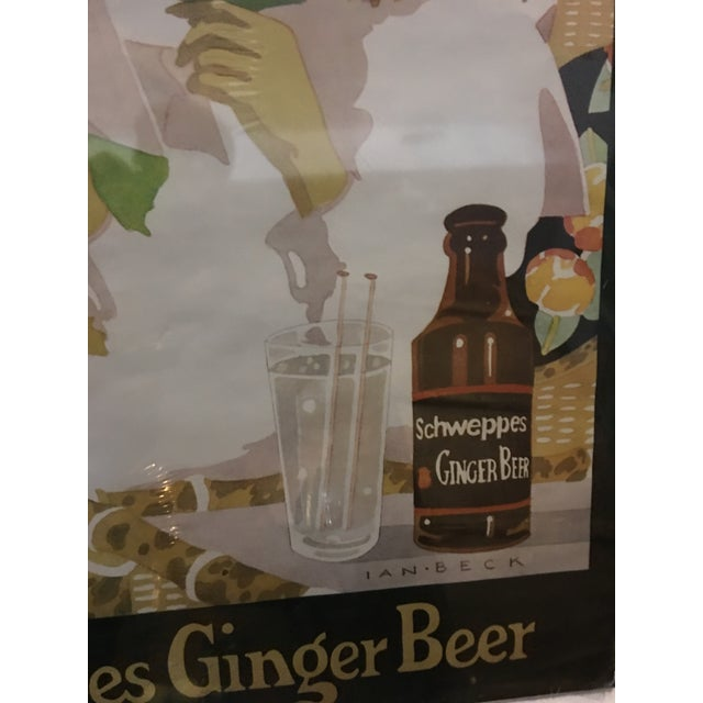 Vintage English Schweppes Ginger Beer Poster - Image 5 of 8