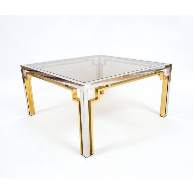 Romeo Rega Exquisite Double-Frame Coffee Table Attributed to Romeo Rega For Sale - Image 4 of 9
