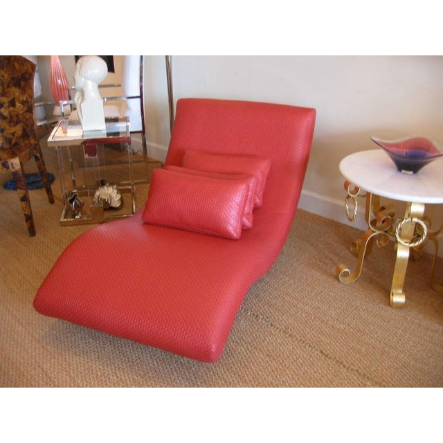 Metal Mid Century Modern Chaise Longue For Sale - Image 7 of 10