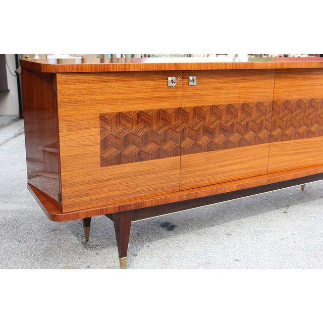 French Art Deco Light Macassar Ebony Sideboard / Buffet Circa 1940s - Image 10 of 10