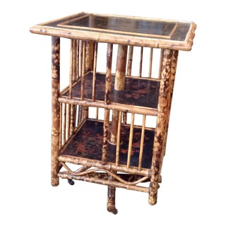 Chinoiserie Bamboo Revolving Bookcase For Sale