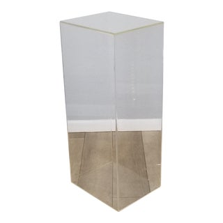 1980s Clear Lucite Pedestal For Sale