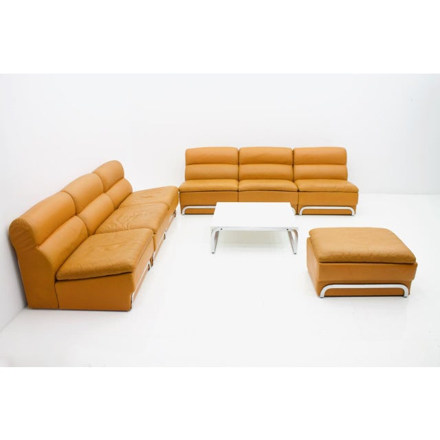 Modular Seating Group & Coffee Table Leather Sofa by Horst Brüning for Kill 1970 For Sale - Image 6 of 12