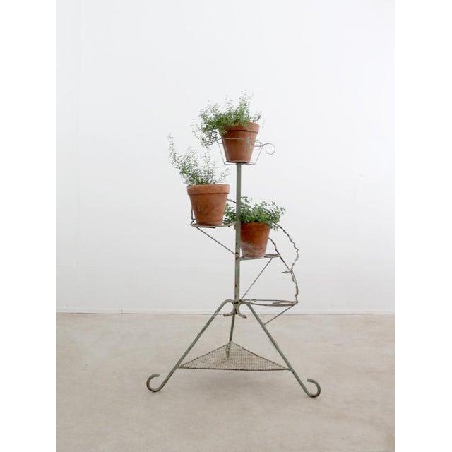 Vintage Metal Plant Stand Riser - Image 2 of 10