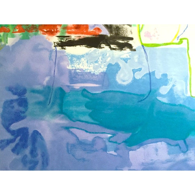 "Helen Frankenthaler Rare Lmt Edtn Hand Pulled Original Silkscreen Print "" West Wind "" 1996 For Sale - Image 11 of 13"