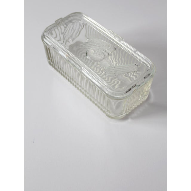 Depression Glass Refrigerator Dish For Sale - Image 4 of 9
