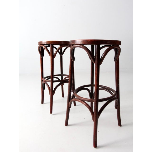 1950's Bentwood Cafe Stools - A Pair - Image 6 of 7