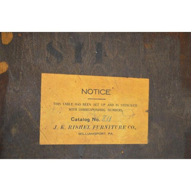 *STORE ITEM #: 18895 J.K. Rishel Antique Arts & Crafts Mission Oak Library Table Desk no. 811 AGE / ORIGIN: Approx. 100...