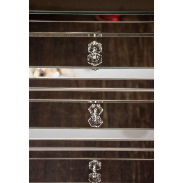 Contemporary Custom Mirrored End Table For Sale - Image 3 of 6