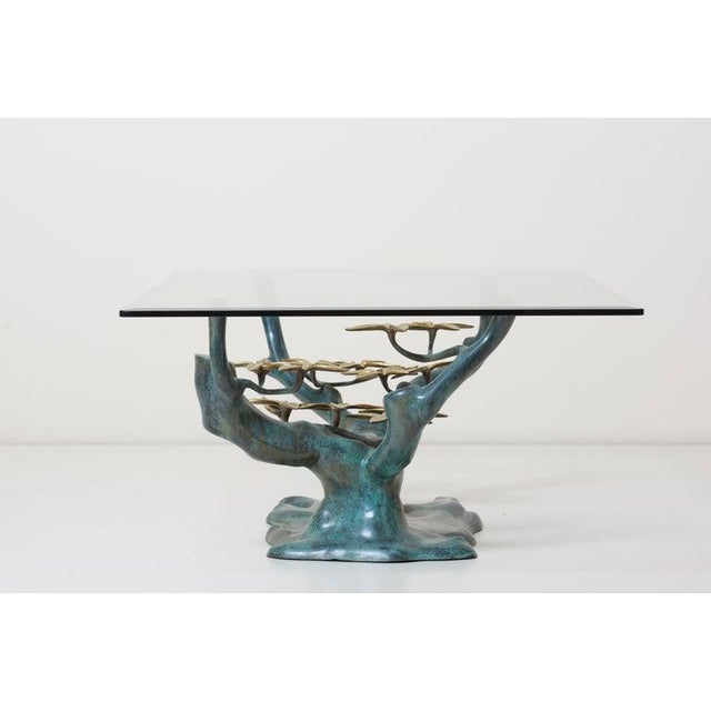 Brass Bonsai Tree Coffee or Side Table in the Manner of Willy Daro For Sale - Image 11 of 13