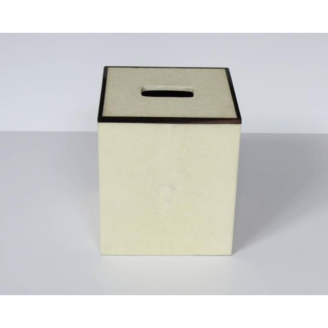 Beautiful Ivory tissue box with Bone Inlay. Size: 5.25''X 5.25'' X 6'' Galart offers a wide selection of custom made boxes...