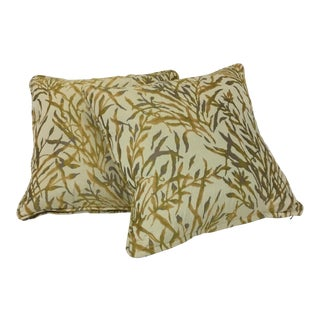 1980s Donghia Fabric Throw Pillows - a Pair For Sale