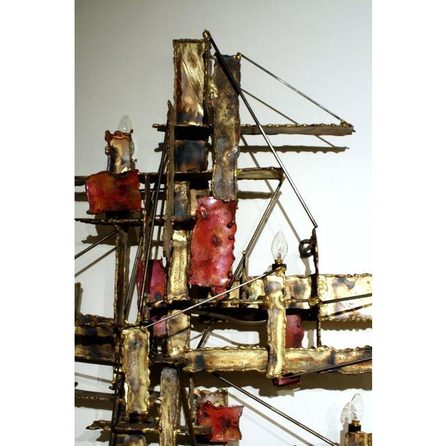 Silas Seandel Brutalist Illuminated Wall Sculpture by Silas Seandel For Sale - Image 4 of 6