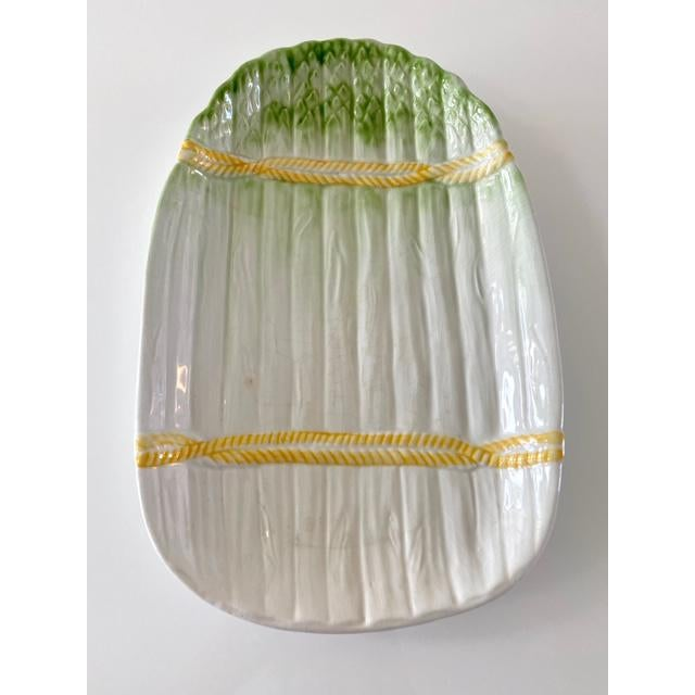 Mid 20th Century Vintage Italian Asparagus Plate For Sale - Image 5 of 5