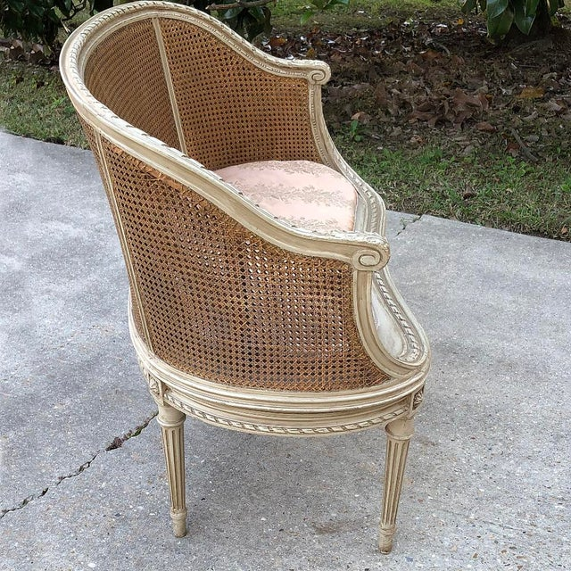 19th Century French Louis XVI Painted Canape For Sale - Image 4 of 12