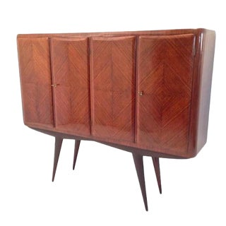 Pier Luigi Colli Style Four-Door Mid-Century Tall Cabinet in Rosewood Italy circa 1955 For Sale