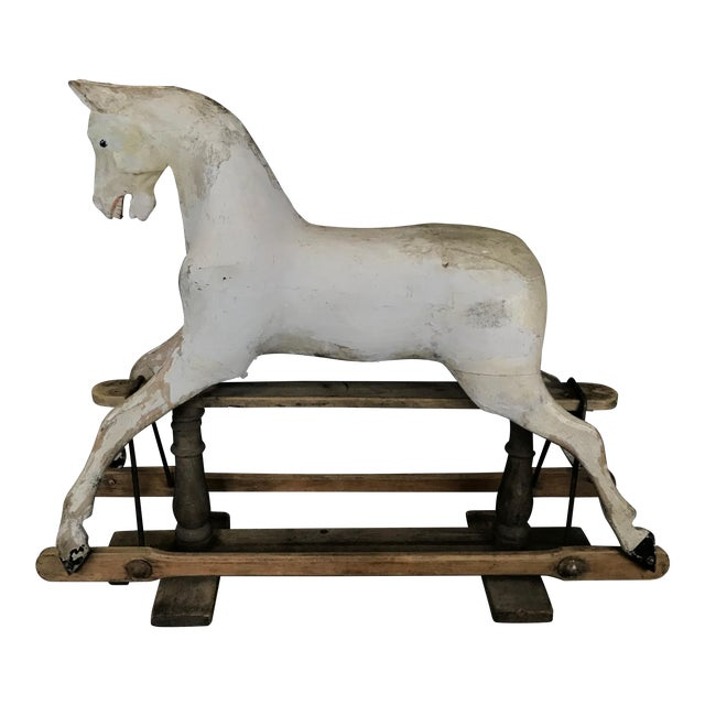 Mid 19th Century British Carved and Painted Wood Merry-Go-Round Carousel Horse For Sale