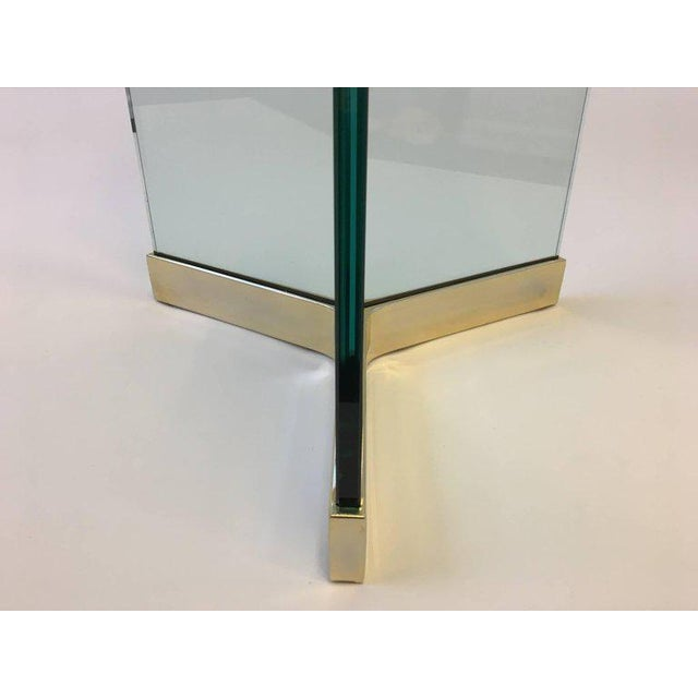Modern Polished Brass and Glass Dining Table by Leon Rosen for Pace Collection For Sale - Image 3 of 8