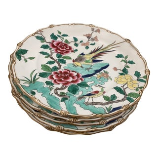Exceptional Antique Chinese Porcelain Bird Plates- Set of 5 For Sale