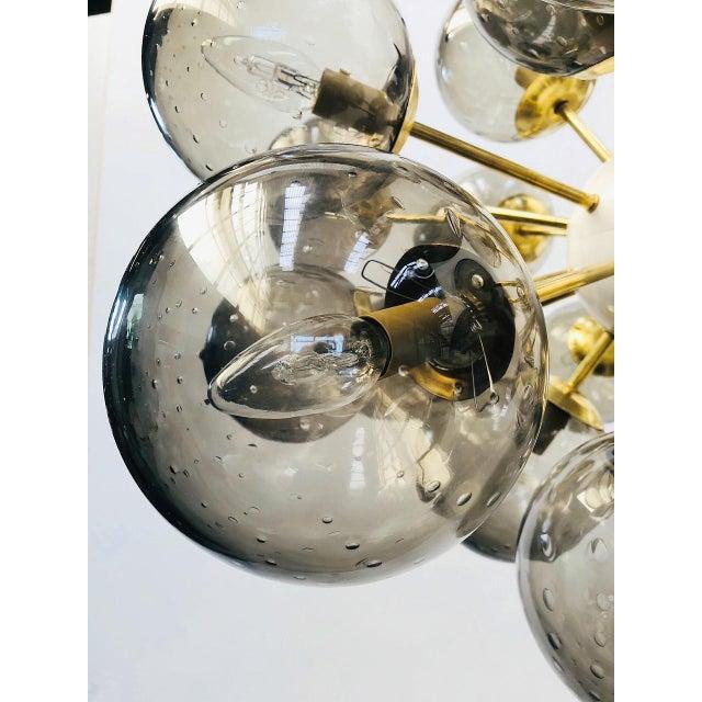 Blown Glass Ovale Sputnik Chandelier by Fabio Ltd For Sale - Image 7 of 12
