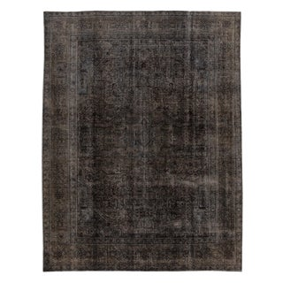 Vintage Overdyed Wool Rug For Sale