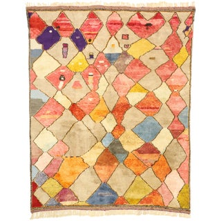 Contemporary Abstract Cubist Style Moroccan Rug - 10' X 12'06 For Sale