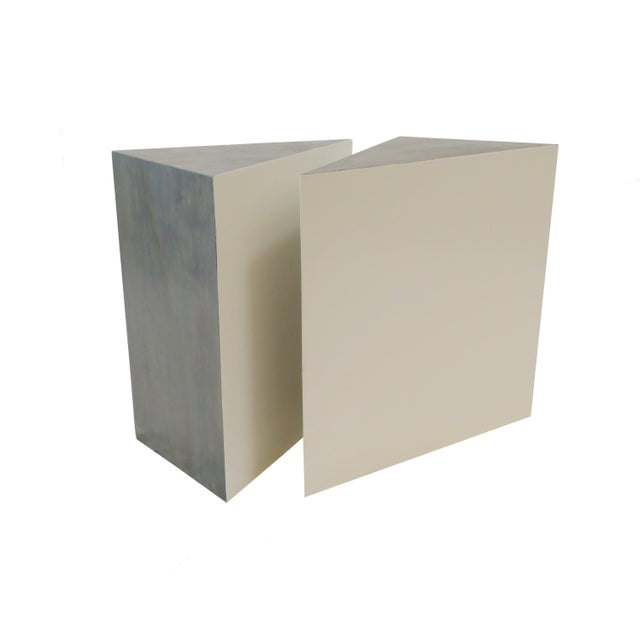 Triangle Side Tables - A Pair - Image 8 of 8