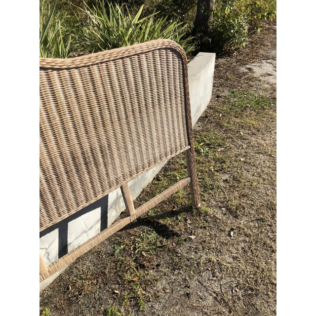 Vintage Rattan King Headboard For Sale - Image 4 of 9