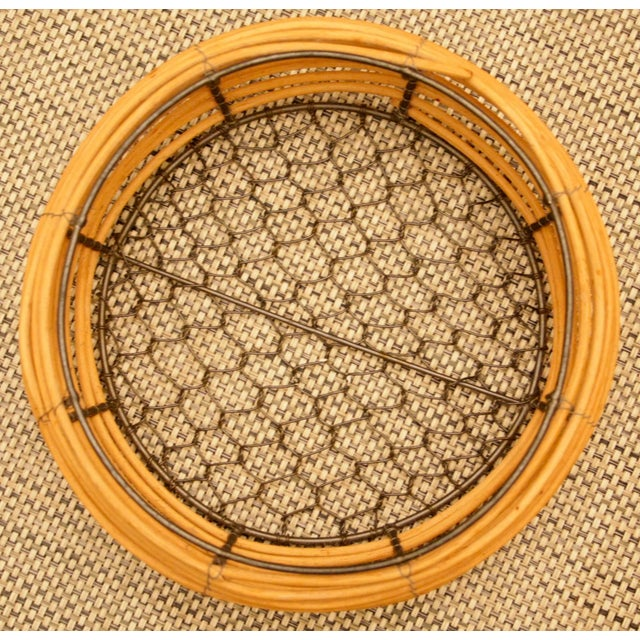 1980s Organic Modern Woven Basket in the Style of Gabriella Crespi For Sale - Image 5 of 7