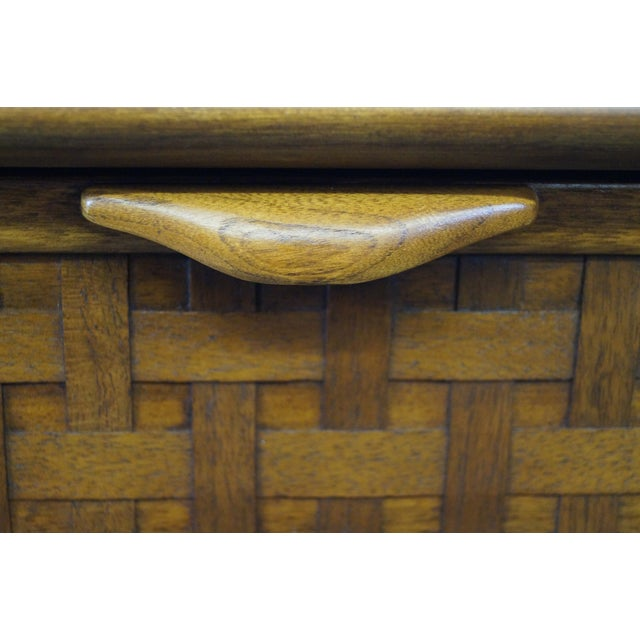 """Lane """"Perspective"""" Walnut End Tables - A Pair - Image 8 of 10"""