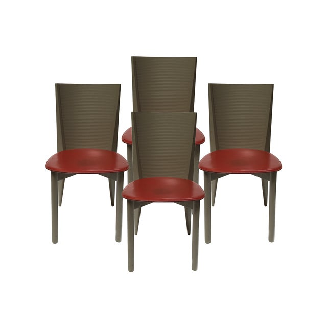 Calligaris Italian Mid Century Chairs - Set of 4 For Sale