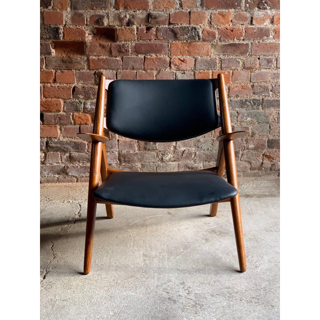 Hans Wegner Sawbuck Chairs Model CH-28 by Carl Hansen 1950s - A Pair For Sale - Image 11 of 13