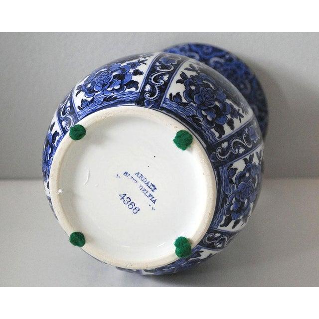 Vintage Blue and White Italian Porcelain Vase For Sale - Image 5 of 6