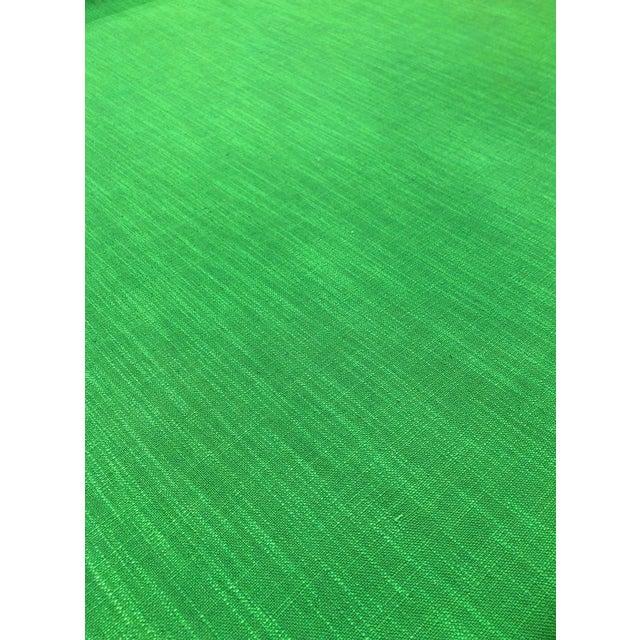 2010s Kate Spade for Kravet Inc Millwood - Modern Picnic Green Designer Multipurpose Fabric - 7.25 Yards For Sale - Image 5 of 5