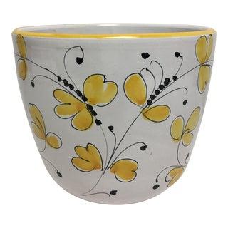 Italian Terracotta Butterfly Cache Pot