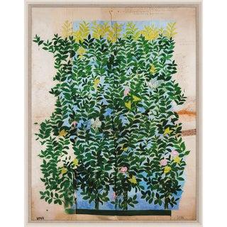 Paule Marrot, Green Leaves, Framed Artwork For Sale