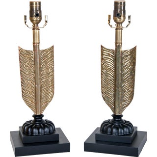Early 20th Century Arrow Lamps - a Pair For Sale