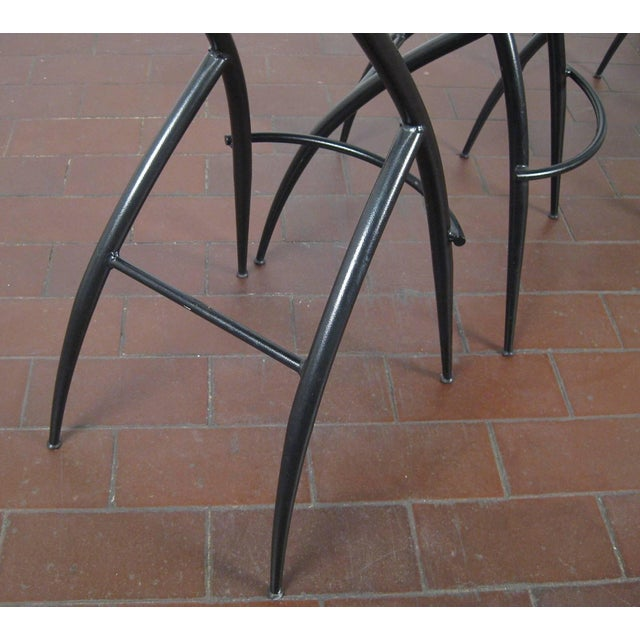 Metal Postmodern Italian Bar Stools- Set of 5 For Sale - Image 7 of 10