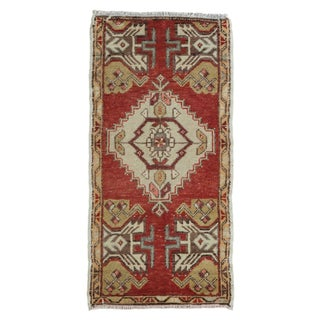 "Vintage Turkish Oushak Runner - 1'7"" X 3'2"" For Sale"