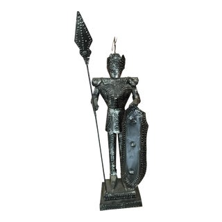 Vintage Metal Conquistador Sculpture