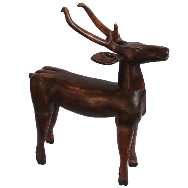 Antique javanese wood deer chairish Where can i buy reclaimed wood near me